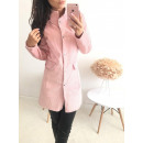 wholesale Fashion & Mode: Coat with stand-up  collar, simple, powder pink