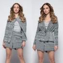Großhandel Pullover & Sweatshirts: Set Umhang, Shorts, Graphit