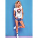 Großhandel Shirts & Tops: DE LUX T-Shirt : SO HOT, top, schmal, weißer Druck