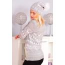 wholesale Headgear: Christmas hat,  pompom, producer, gray