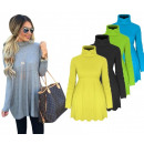 wholesale Fashion & Mode: Blouse with  turtleneck, tunic, yellow