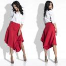 wholesale Skirts: Skirt, asymmetric, elegant, red