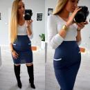 Großhandel Jeanswear: Kleid, zwei  Farben, Taschen, weiße Jeans