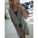 Vest, Unterhemd, Pullover, Mantel, grau