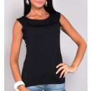 wholesale Shirts & Blouses: Blouse with collar black, full size
