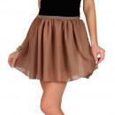 Großhandel Röcke: Minirock, luftig, Sommer, Cappuccino, uni