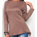 wholesale Shirts & Blouses: Asymmetrical  blouse, high quality, cappuccino