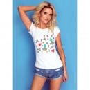 Großhandel Shirts & Tops: DE LUX T-Shirt : SOMMER Print, Top, Slim, Weiß