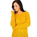 wholesale Fashion & Apparel: Soft sweater,  pockets, pearls, mustard
