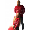 grossiste Vetement et accessoires: Pull de Noël, cadeau, femme rouge