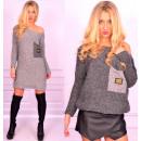 ingrosso Pullover e felpe: tasca maglione  lungo, grafite, distintivo, unisize