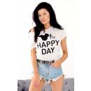 Großhandel Shirts & Tops: T-Shirt , happy6 day, sommer, qualität, weiß
