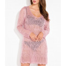 ingrosso Ingrosso Abbigliamento & Accessori: vestito Openwork,  sexy, estate, qualità, rosa cipr