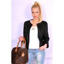 wholesale Coats & Jackets: Spring jacket, eco leather, black, S, M, L, XL