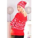 ingrosso Cappelli: cappello di  Natale, pompon, produttore, rosso
