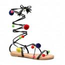 Sandalias de los zapatos de las mujeres romanas, p