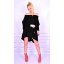 wholesale Fashion & Apparel: Sweater long black tunic, new, oversize