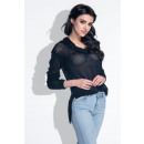 wholesale Shirts & Blouses: Openwork shirt, cuts, quality, black