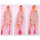 Sweter długi, kolory, tunika, nowość, oversize