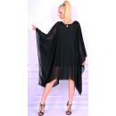 Großhandel Kleider: Chiffonkleid, schwarz, unisize