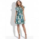 Summer dress, palm leaves, producer DE LUX