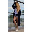 hurtownia Fashion & Moda: Płaszcz swetrowy,  kardigan, narzuta, czarny, uni