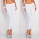 grossiste Pantalons: Leggings, coton , haute qualité, taille unique, bl