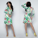 wholesale Dresses: Asymmetrical dress, neckline, flowers