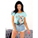 Großhandel Shirts & Tops: T-Shirt , Mama, Produzent, Qualität, blau