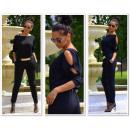 groothandel Kleding & Fashion: Het pak dresowy,  gaten, zwart, oversized