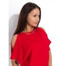 Großhandel Hemden & Blusen: Bluse, elegant, weiblich, Qualität, rot