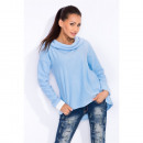 wholesale Coats & Jackets: Sweatshirt with a collar, fleece, high quality, bl
