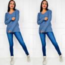 ingrosso Ingrosso Abbigliamento & Accessori: maglione morbido,  perle, tesse, uni, blu