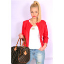ingrosso Cappotti e giacche: giacca Primavera,  PU cuoio, rosso, S / M e L / XL