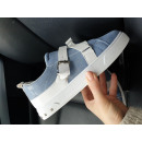 Shoes, sneakers, quality, blue - white