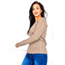 wholesale Fashion & Apparel: Soft sweater,  pearls, weave, uni, cappuccino