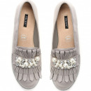 wholesale Fashion & Apparel: Shoes, moccasins, fringes, beads, gray