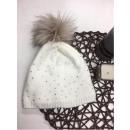 wholesale Headgear: Cap, pompon, producer, white