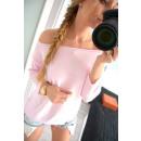 Großhandel Hemden & Blusen: Gebundene Bluse, Qualität, Produzent, pink