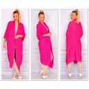 Long sweater coat,  bedspread, oversize, fuchsia