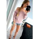 ingrosso Camicie: Camicetta, taglio,  arco, produttore, rosa cipria