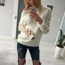 wholesale Fashion & Apparel: Sweater, braid, producer, uni, ecru