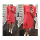 wholesale Fashion & Mode: Dress, tunic  pocket, coral, unisize