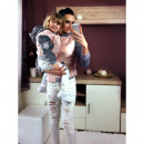 wholesale Childrens & Baby Clothing: Bomber jacket, mom  and baby, powder pink