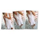 Sukienka zwiewna,  rozkloszowana, biała, unisize