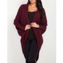 Großhandel Fashion & Accessoires: Langer Pullover, Strickjacke, Qualität, rot, S / M