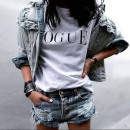 wholesale Shirts & Tops: VOGUE T-Shirt ,  quality, trendy, hit, white