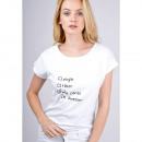 T-Shirt opschrift: who cares Ik ben geweldig, wit