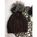 wholesale Headgear: Braided cap,  tassel, producer, brown