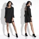 Großhandel Kleider: Kleid, Ausschnitt auf der Rückseite, mini, schwarz